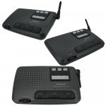 CALFORD Home Office 4 Channel FM Wireless Intercom 3-Station Charcoal