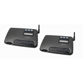 CALFORD Home or Office 3 Channel FM Wireless Voice Intercom System 2 Station Charcoal