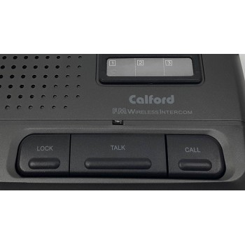 Refurbish 3 Channel FM Wireless Voice Intercom System 2 Station Charcoal