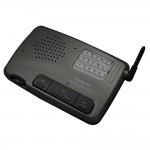Home Office 10 Channel Call All FM Wireless Intercom System add-on single unit Charcoal