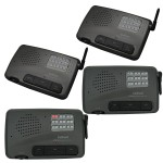 Calford Home Office 10 Channel FM Wireless Intercom System 4 Station Charcoal