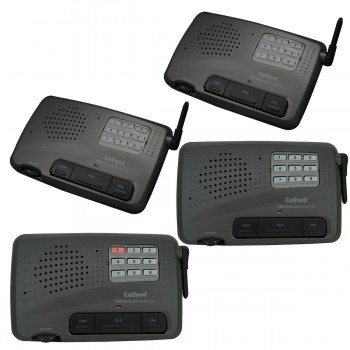 Home Office 10 Channel FM Wireless Call All Intercom System 4 Station Charcoal