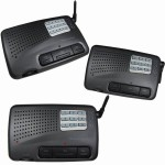 Calford Home or Office 9 Channel FM Wireless Intercom System 3 Station Charcoal