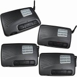 Calford Home or Office 9 Channel FM Wireless Intercom System 4 Station Charcoal