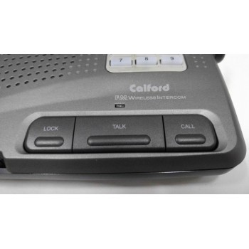 Calford Home Office 10 Channel FM Wireless Intercom System 3 Station Charcoal