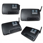 CALFORD Home or Office 4 Channel FM Wireless Voice Intercom System 4 Station Charcoal