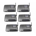 Calford Home or Office 6 Channel FM Wireless Voice Intercom System 6 Station Charcoal