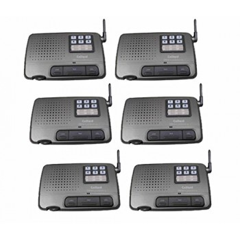 Calford Home Office 7 Channel FM Wireless Voice Intercom System 6 Station Charcoal