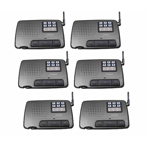 Calford Home Or Office 6 Channel Fm Wireless Voice Intercom System Station Charcoal