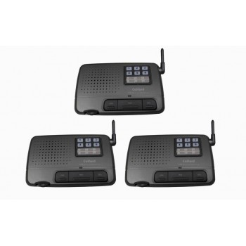 7 Channel Call All FM Wireless Voice Home Intercom System Charcoal 3 Station