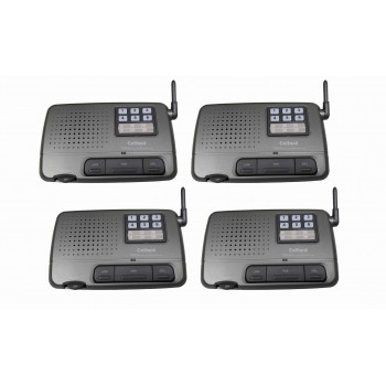 Calford 6 Channel FM Wireless Voice Home Intercom System Charcoal 4 Station
