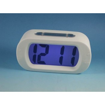 Rubber desktop Big LCD alarm clock