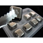 Stainless Steel Ice Cube Box Set Glacier Rock Drink Freezer Whiskey Stone w TONG