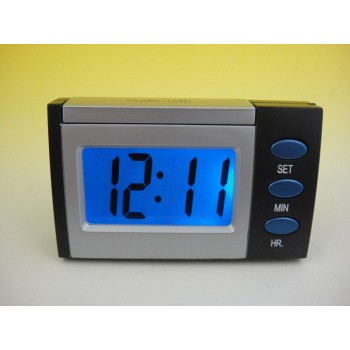 Talking LCD travel alarm clock