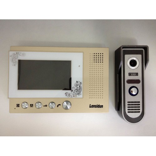 43 Tft Lcd Color Video Door Phonebell Home Wired Intercom System