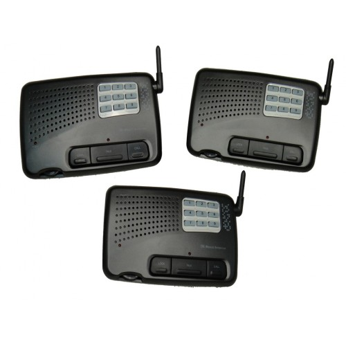 home and office 9 channel digital fm wireless intercom system 3 station. Black Bedroom Furniture Sets. Home Design Ideas